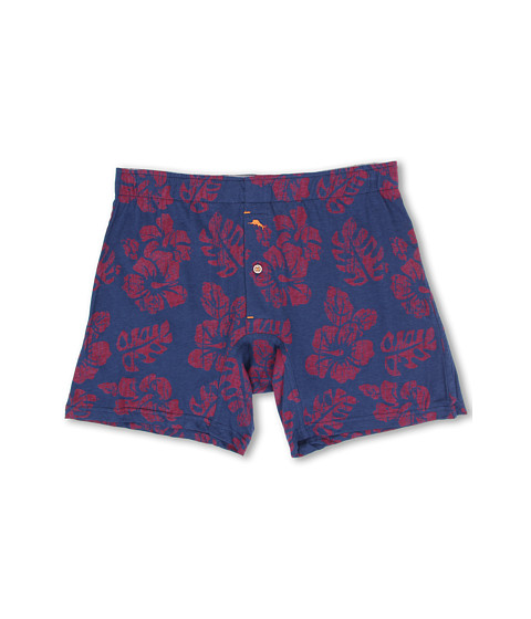 Tommy Bahama - Midori Floral Jersey-Knit Boxer Briefs (Blueberry Dark Blue) Men's Underwear