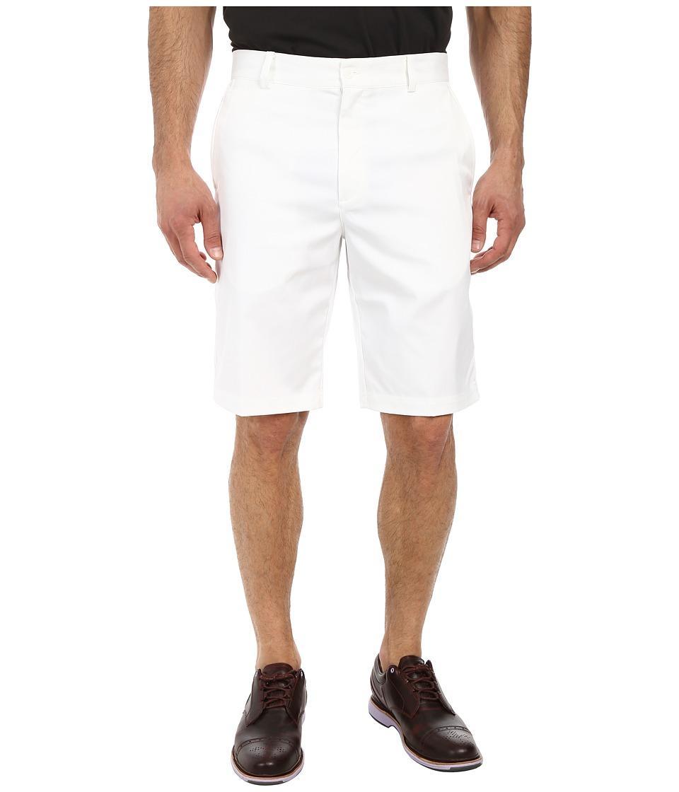 Nike - Flat Front Short (White/White/White) Men's Shorts