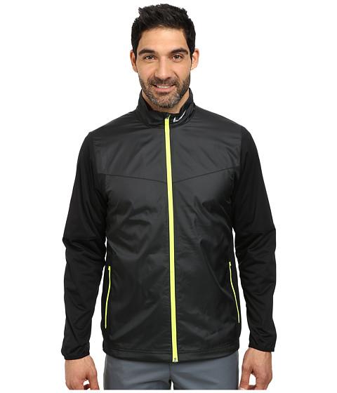 Nike Golf - Shield Full-Zip Jacket (Black/Volt/Wolf Grey) Men's Coat