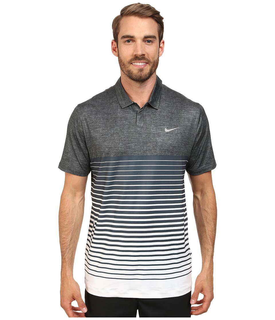 Nike Golf - Bold Stripe Polo (Black/Dove Grey/Wolf Grey) Men