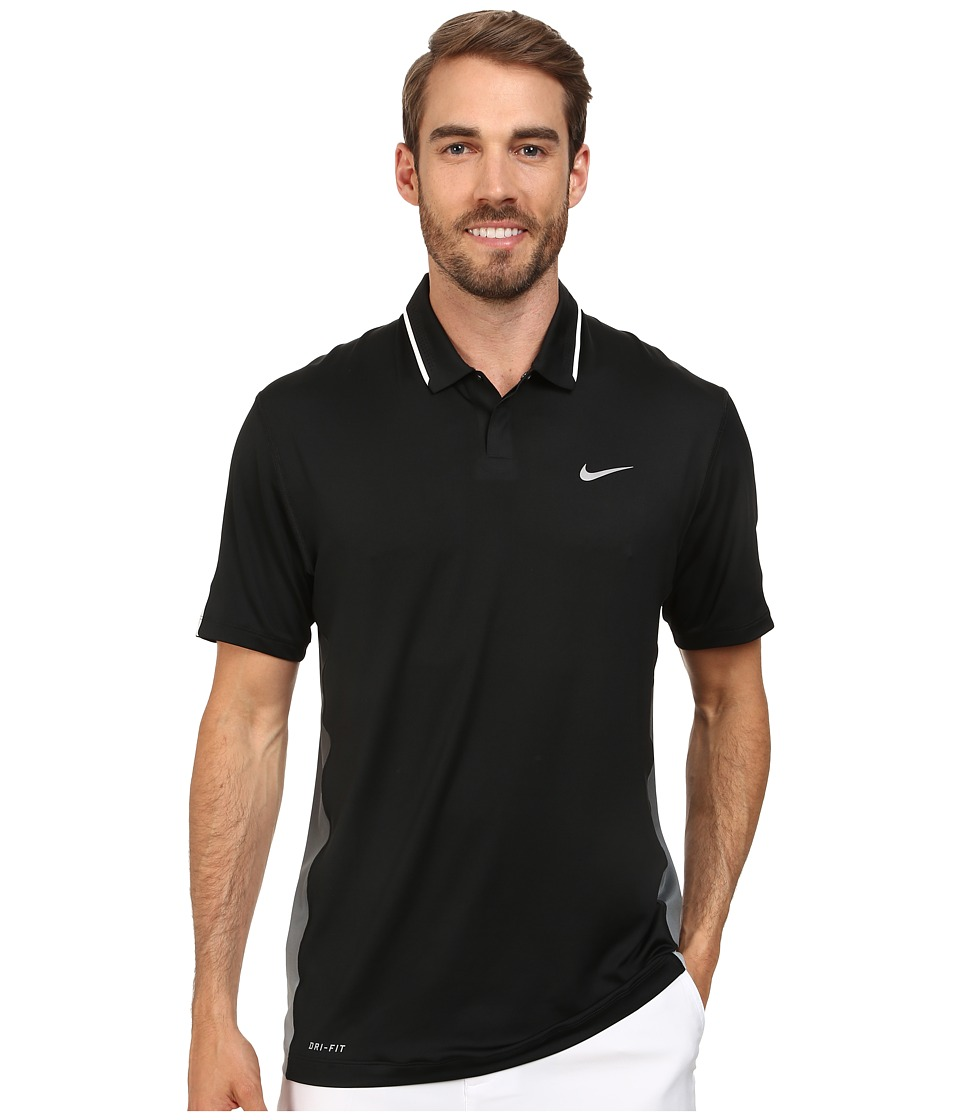 Nike Golf - Glow Polo (Black/White/Wolf Grey) Men's Short Sleeve Knit