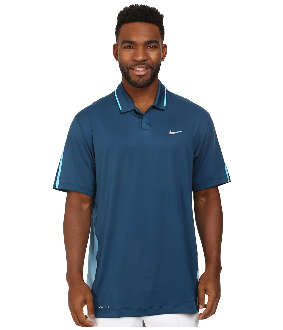 Nike Golf - Glow Polo (Blue Force/Clearwater/Wolf Grey) Men's Short Sleeve Knit