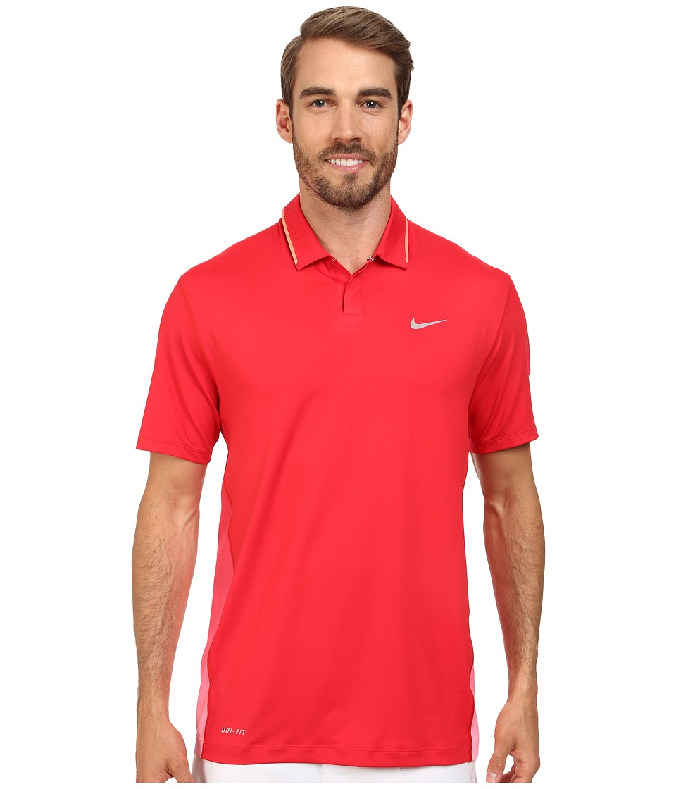 Nike Golf - Glow Polo (University Red/Hot Lava/Wolf Grey) Men's Short Sleeve Knit