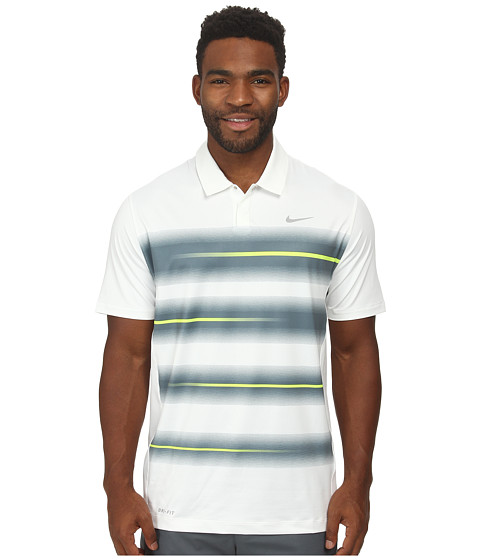 Nike Golf - Vapor Trail Polo (White/Volt/Wolf Grey) Men