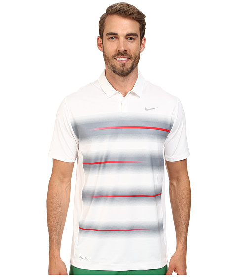 Nike Golf - Vapor Trail Polo (White/University Red/Wolf Grey) Men