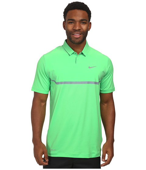 Nike Golf - Elite Cool Carbon Polo (Poison Green/Dove Grey/Wolf Grey) Men