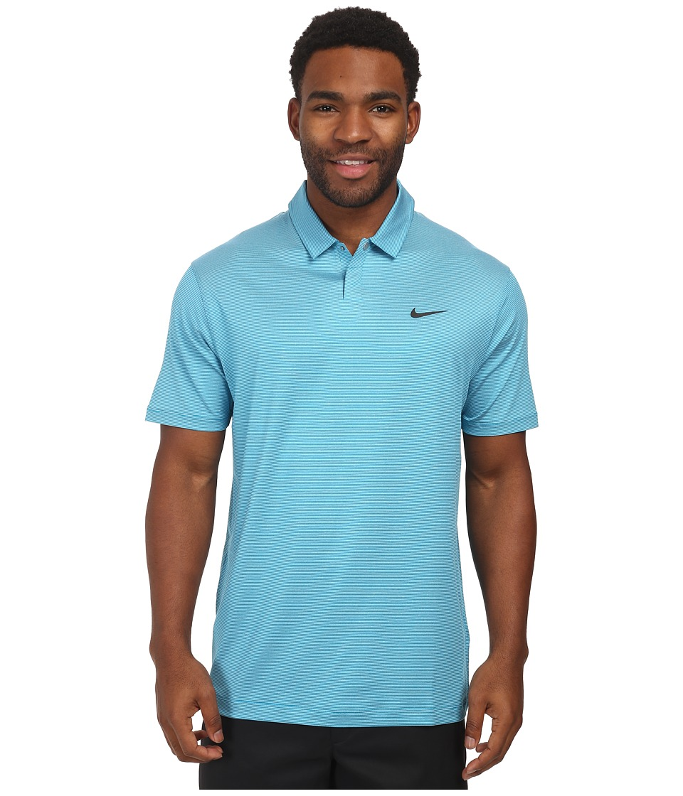 Nike Golf - Control Stripe Polo (Light Blue Lacquer/Anthracite) Men's Short Sleeve Knit