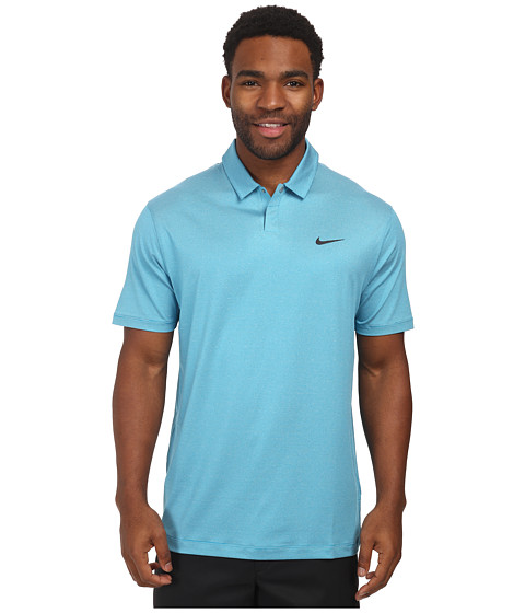 Nike Golf - Control Stripe Polo (Light Blue Lacquer/Anthracite) Men