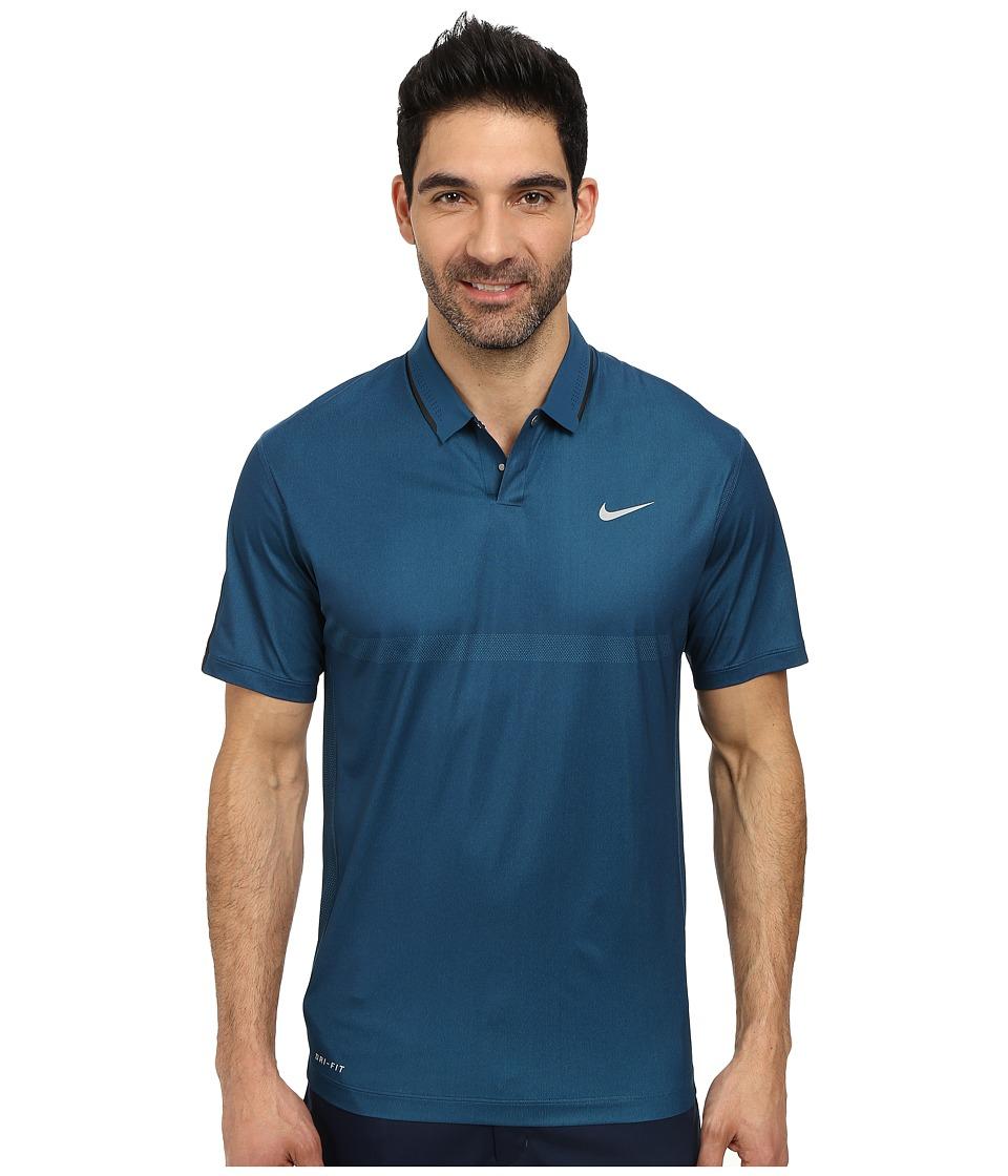 Nike Golf - Body Map Polo (Blue Force/Black/Wolf Grey) Men