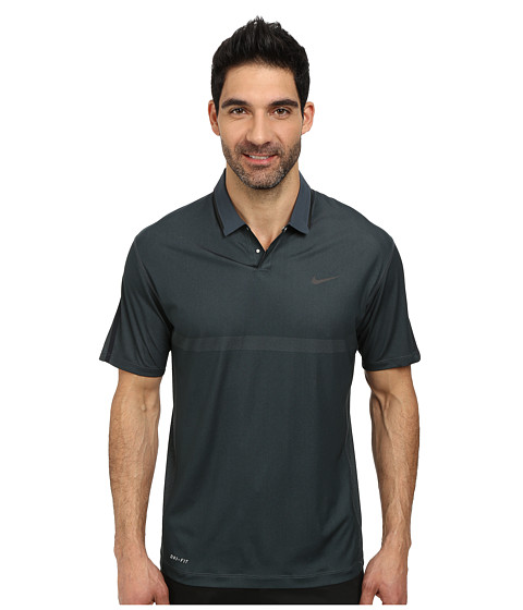 Nike Golf - Body Map Polo (Classic Charcoal/Black/Anthracite) Men's Short Sleeve Knit