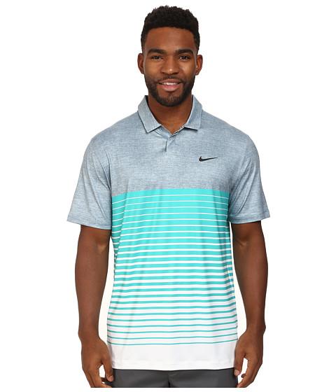 Nike Golf - Bold Stripe Polo (Blue Graphite/Light Retro/Anthracite) Men