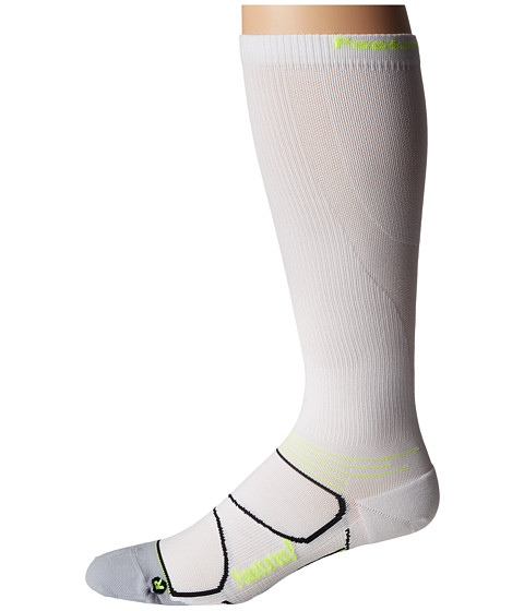 Feetures - Graduated Compression Knee High (White/Reflector) Knee High Socks Shoes