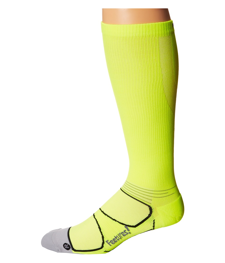 Feetures - Graduated Compression Knee High (Reflector/Black) Knee High Socks Shoes