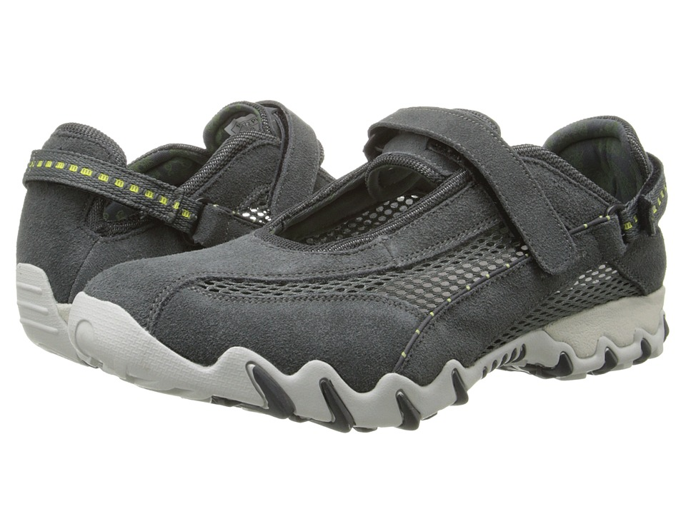 Allrounder by Mephisto - Niro (Graphite Suede/Light Grey Open Mesh) Women's Maryjane Shoes