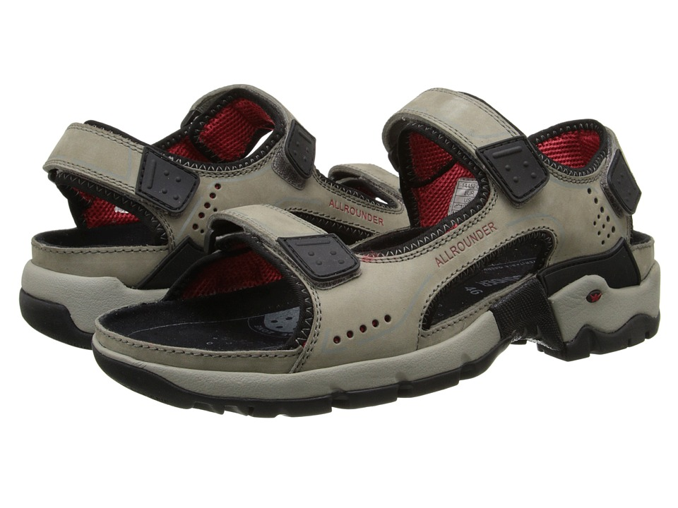 Allrounder by Mephisto - Adiago (Grey Oiled Nubuck) Men's Sandals