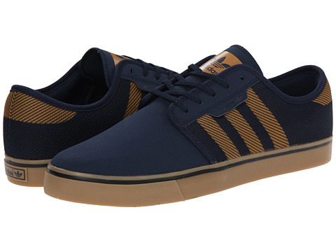 adidas Skateboarding - Seeley Woven (Collegiate Navy/Mesa/Collegiate Navy) Men's Skate Shoes