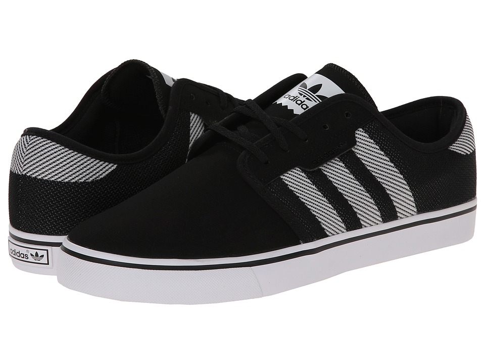 adidas Skateboarding - Seeley Woven (Core Black/White/Core Black) Men's Skate Shoes