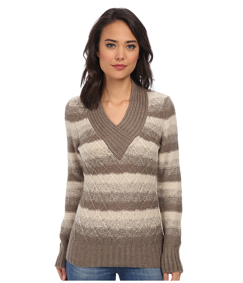 Gabriella Rocha - V-Neck Striped Sweater (Shitake Twist) Women's Dress