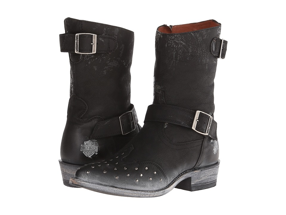 Harley-Davidson Everly (Black) Cowboy Boots