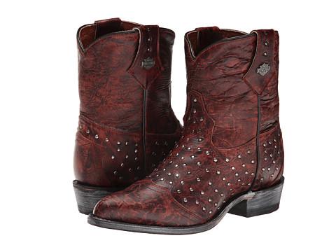 Harley-Davidson - Violet (Burnt Red) Cowboy Boots