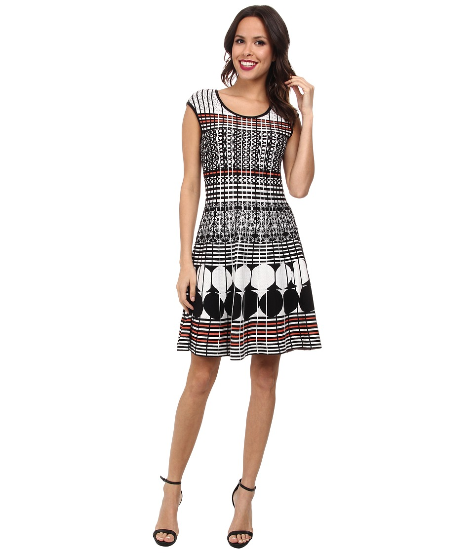 NIC+ZOE - Circle Punched Twirl Dress (Multi) Women's Dress