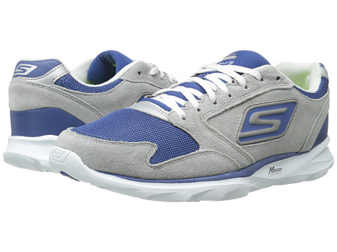 SKECHERS - Go Run - Sonic Victory (Gray/Navy) Men's Shoes