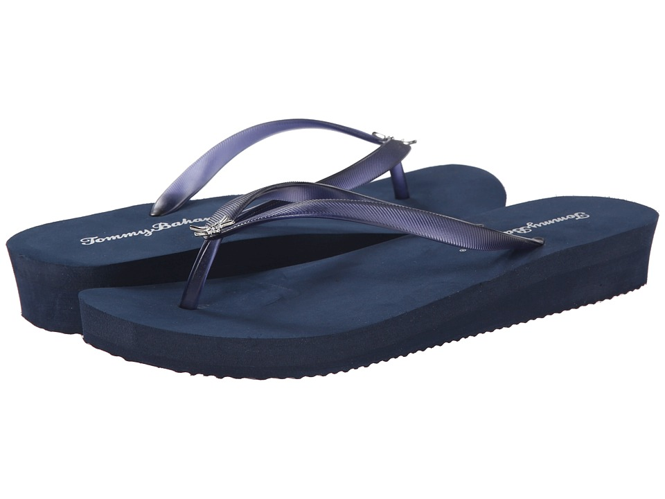 Tommy Bahama Whykiki Wedge Solid (Navy) Women