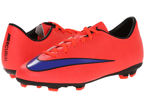 Nike Kids - Jr Mercurial Victory Firm Ground Soccer (Toddler/Little Kid/Big Kid) (Bright Crimson/Persian Violet) Kids Shoes