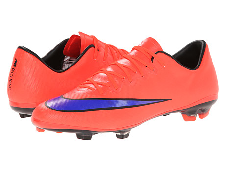 Nike Kids - Mercurial Vapor X FG Jr (Little Kid/Big Kid) (Bright Crimson/Persian Violet) Kids Shoes