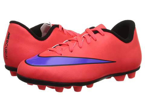 Nike Kids - Jr Mercurial Vortex II FG Soccer (Toddler/Little Kid/Big Kid) (Bright Crimson/Persian Violet) Kids Shoes