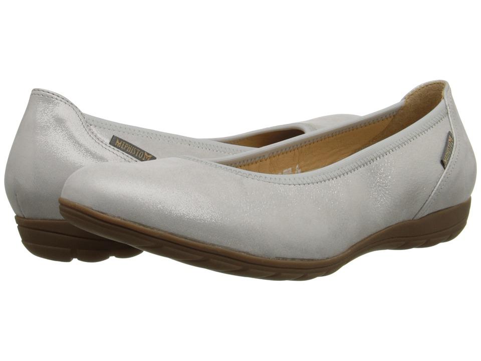 Mephisto - Emilie (Light Grey Liz) Women's Slip on Shoes