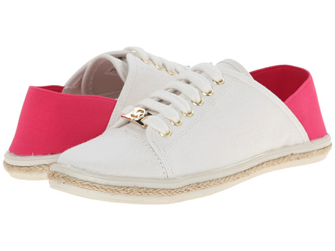 MICHAEL Michael Kors Kids - Irene Collapsible (Toddler/Little Kid/Big Kid) (White/Fuchsia) Girl's Shoes