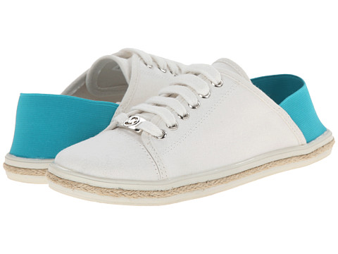 MICHAEL Michael Kors Kids - Irene Collapsible (Toddler/Little Kid/Big Kid) (White/Turquoise) Girl's Shoes