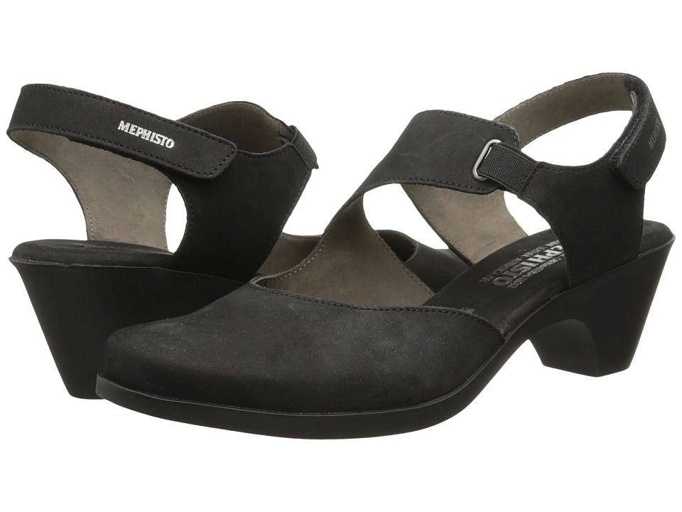 Mephisto - Maya (Black Bucksoft) Women's 1-2 inch heel Shoes