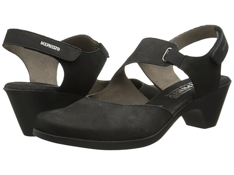 Mephisto - Maya (Black Bucksoft) Women's 1-2 inch heel Shoes