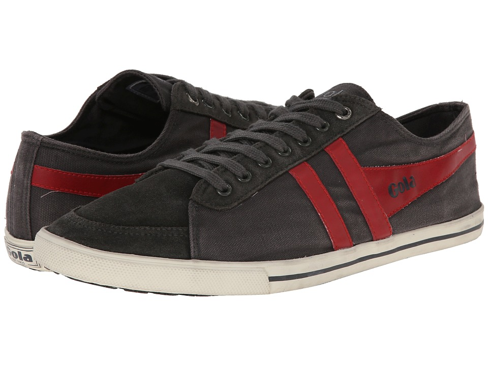 Gola - Quota (Graphite/Red) Men's Lace up casual Shoes