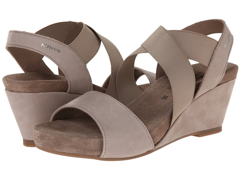 Mephisto - Barbara (Warm Grey Bucksoft) Women's Sandals