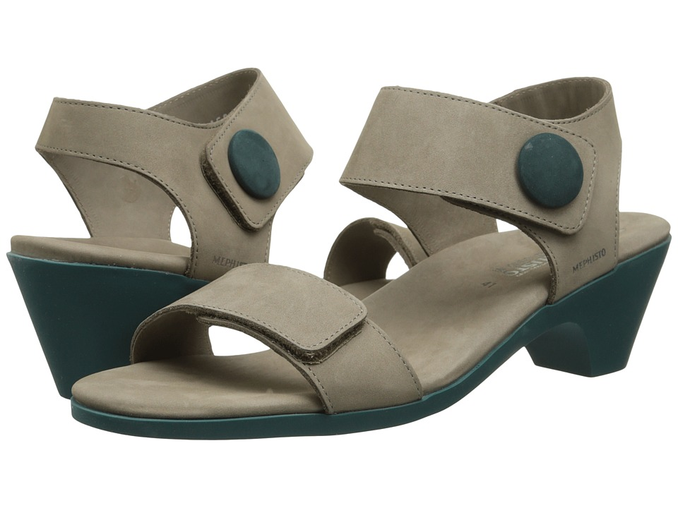 Mephisto - Celine (Light Grey/Petroleum Bucksoft) Women