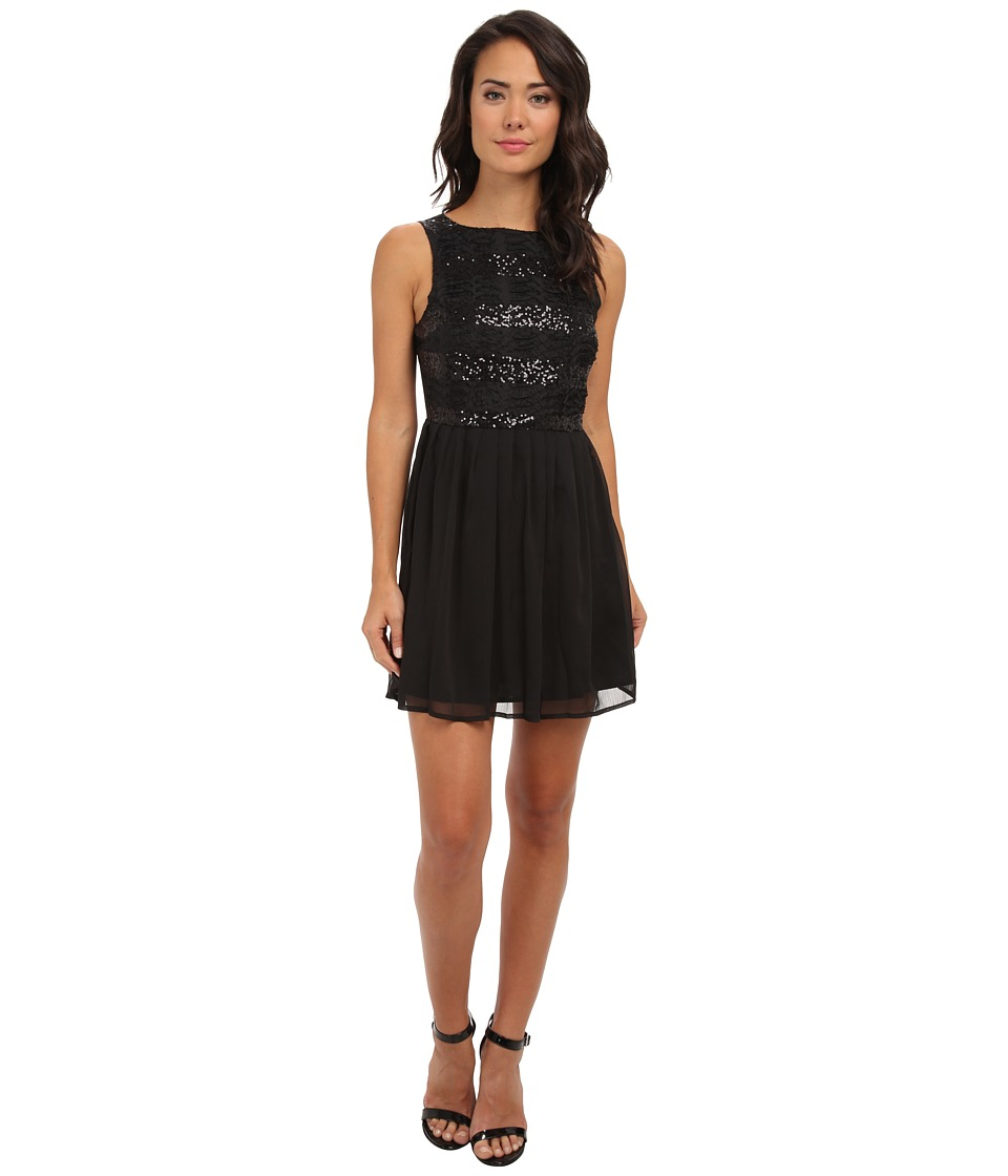 Jack by BB Dakota - Ani Crinkle Chiffon Dress (Black) Women's Dress