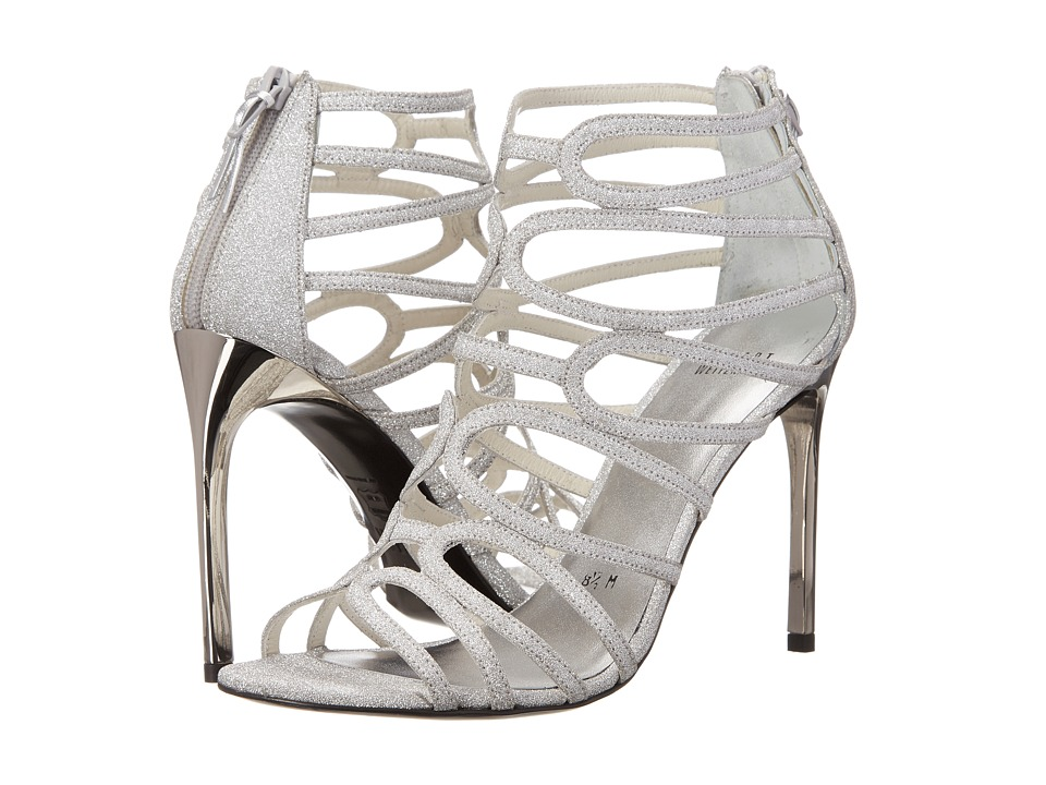 Stuart Weitzman Bridal & Evening Collection Loopdeloop (Plata Glitterati) High Heels