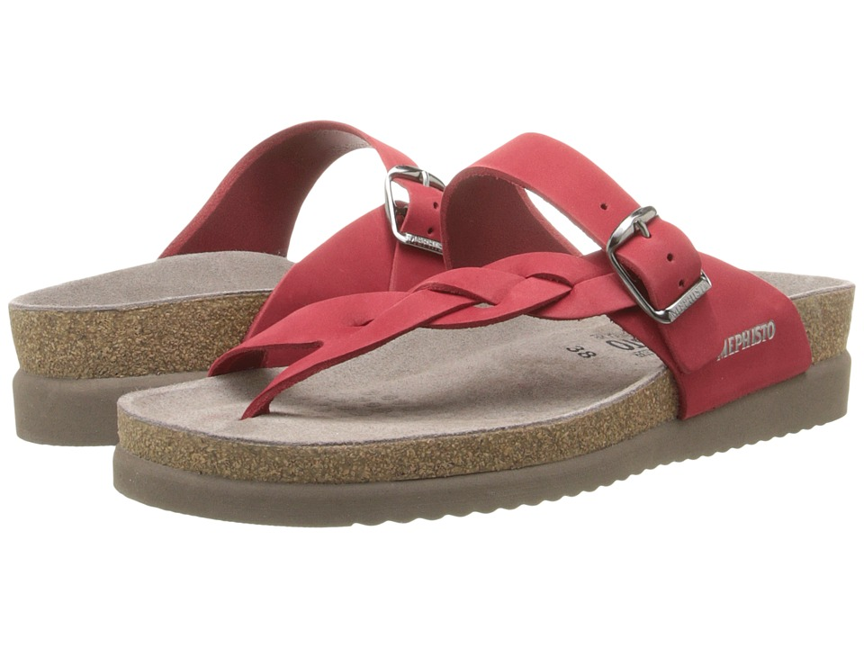 Mephisto - Helen Twist (Red Nubuck) Women's Sandals