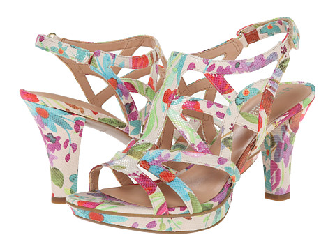 Naturalizer - Danya (Cream Floral Watercolor Printed Iguana) Women's Sandals