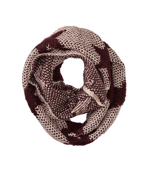 Gabriella Rocha - Knitted Star Scarf (Maroon) Scarves