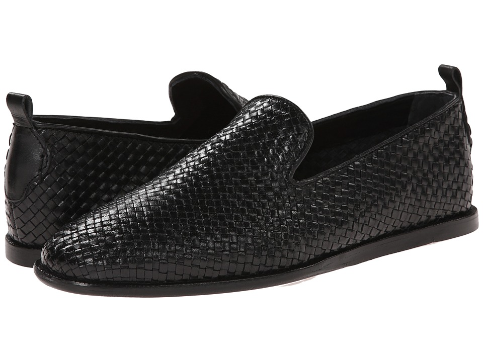 H by Hudson - Ipanema (Black Weave) Men's Shoes