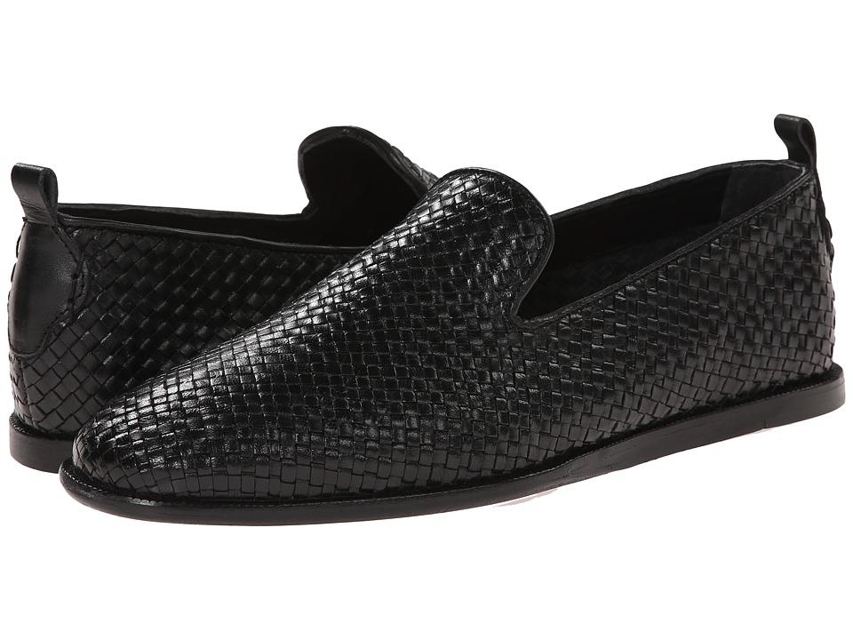 H by Hudson - Ipanema (Black Weave) Men's Shoes
