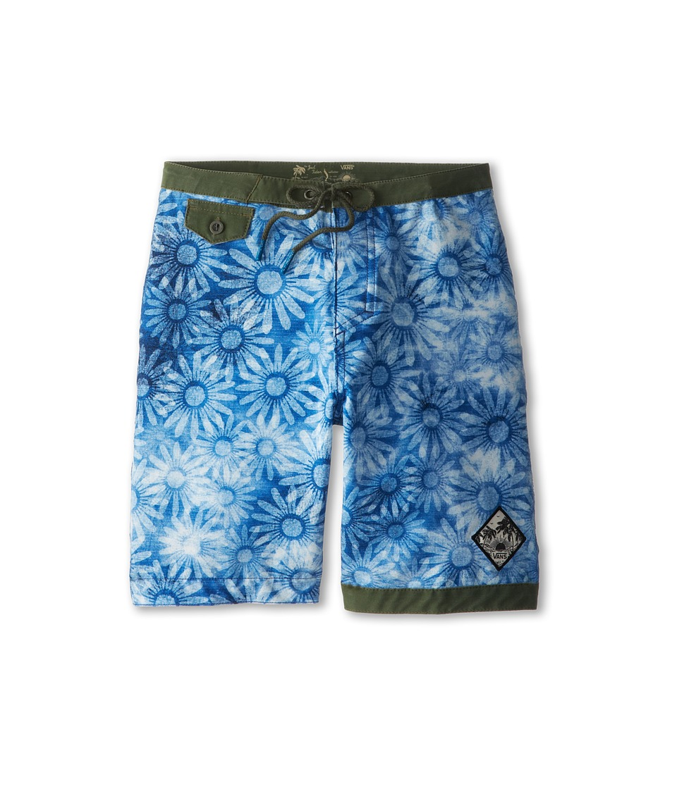 Vans Kids - JT Trimline Daisy Boardshort (Little Kids/Big Kids) (Indigo) Boy's Swimwear