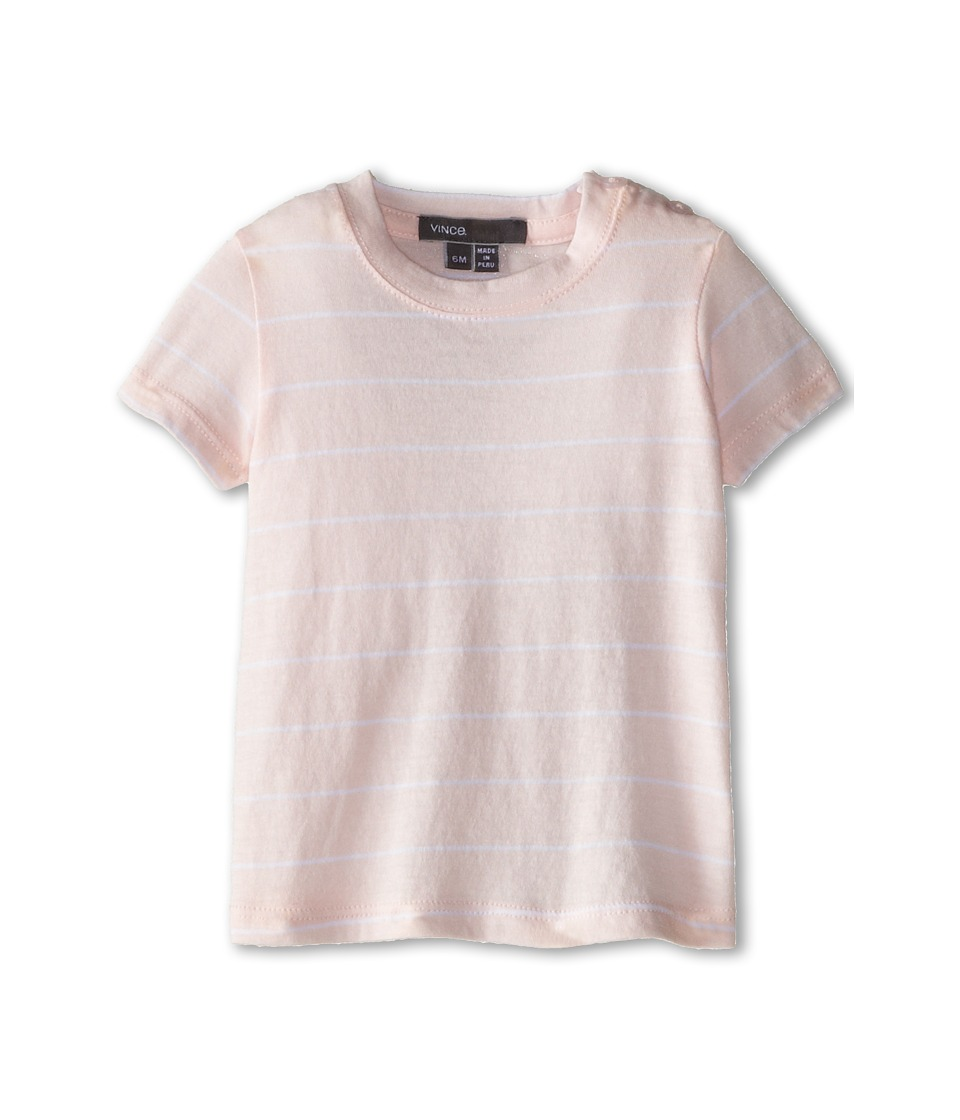 Vince Kids - Stripe Tee (Infant) (Organdy/White) Girl's T Shirt