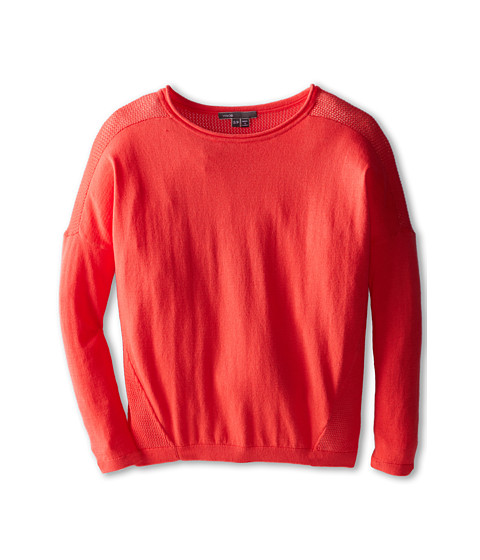 Vince Kids - Rack Stitch Sweater (Big Kids) (Nectar) Girl's Sweater