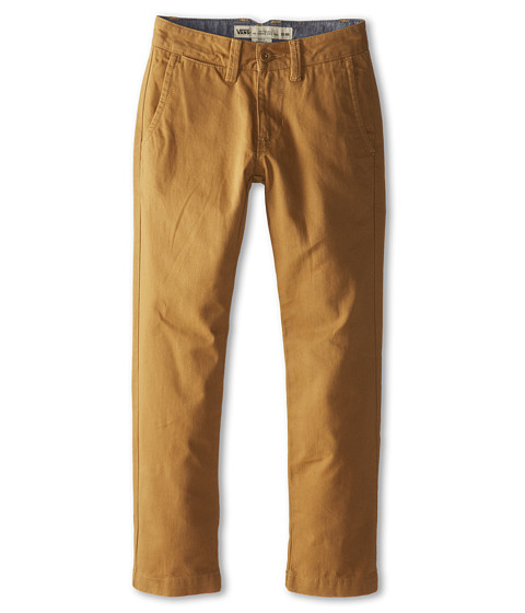 Vans Kids - Excerpt Chino Pants (Little Kids/Big Kids) (New Mushroom Brown) Boy's Casual Pants