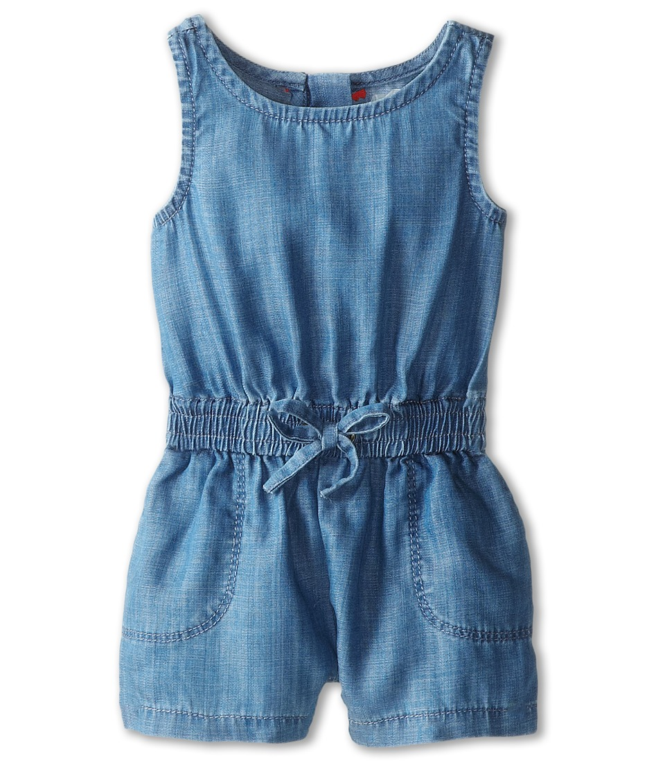 Vince Kids - Chambray Romper (Infant) (Indigo) Girl's Jumpsuit & Rompers One Piece